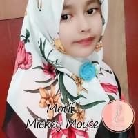 Kerudung Anak Motif Printing Lucu Segiempat Jilbab Anak Hijab Voal