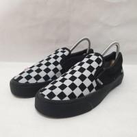 Sepatu Vans Slip On Checker Board Full Black Premium Quality