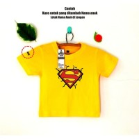 Kaos Anak Balita Custom tambah nama - karakter Superman. - Putih