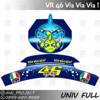 Sticker Decal Helm SHARK VIA VIA VIA for Universal Helm Full