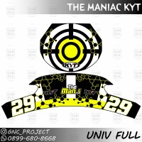Sticker Decal Helm KYT THE MANIAC for Universal Helm Full