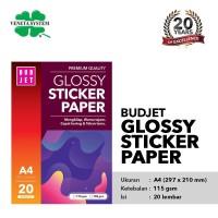 Kertas Sticker Glossy - Budjet Glossy Sticker Paper A4 20 Sheet