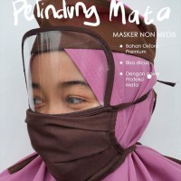 Masker Kain Face shield Bahan Oxford 2 ply + Mika Rigid 0.25 - MALANG