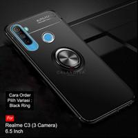 Calandiva Realme C3 Softcase Casing Ultimate Ring Kickstand