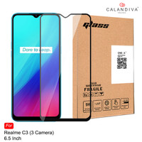ONE-X Realme C3 Full Cover Tempered Glass