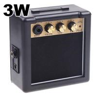 Amplifier Mini Gitar Elektrik 3W - PG-3 - Hitam