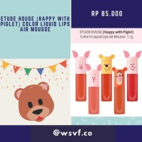 Etude House Happy with Piglet Color in Liquid Lips Air Mousse