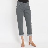 Edwin Ladies Stretch Mom Boyfriend Jeans Kaylee Light Grey