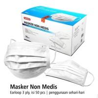 Masker onemed nonmedis earloop 3ply