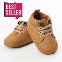 Sepatu Anak Bayi Laki-Laki Import Prewalker Shoes Warna Coklat