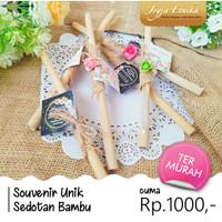 Souvenir Sedotan Bambu Murah