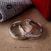 Cincin Kawin/Tunangan Emas Putih EP0025