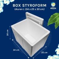 Box Sterofoam/Styrofoam Gabus /Stereofoam - Large (34 x 25 x 30cm)
