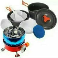Paket Kompor Nasting Cooking Set DS 200 Alat Masak Camping Outdoor
