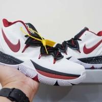 Sepatu Basket Nike Kyrie 5 High White Red 2