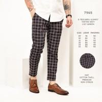 Celana Panjang Pria / Celana Abu Kotak - Kotak List / Ankle Pants