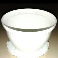"Pot plastik ukuran 21"" + tatakan (1paket)"
