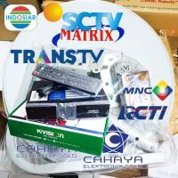 Kvision C2000 + Dish 45cm Set Komplit Parabola Lokal K Vision Bein