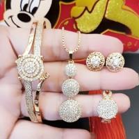 xuping set perhiasan lapis emas 24k 2b16