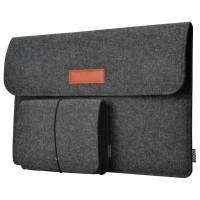 Sleeve laptop Macbook 13 Inch with Pouch Rhodey Sleeve Dark Gray