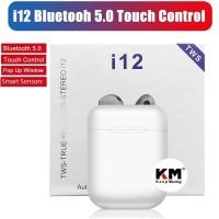 Airpods Headset Bluetooth 50 TWS i12 Handsfree Wireless Earphone