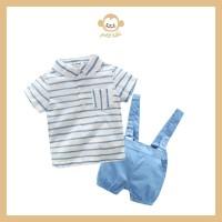 Sky Overall Anak Bayi Laki-laki / Kemeja Celana Anak Pria
