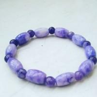 gelang batu akik kecubung ungu
