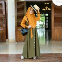 Gamis Modern Terbaru | Mecca Syari S M L XL | Dress Muslim Terpopuler