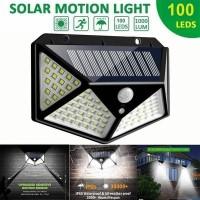 Lampu solar Cell 100 Led Taman dinding outdoor Tahan Air Tenaga surya