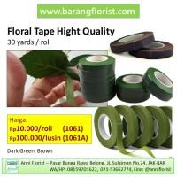 Floral Tape 30 yard/roll (1061), tip hijau, tip bunga, aksesoris bunga
