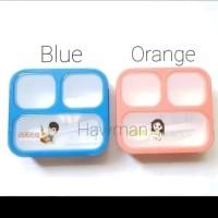 Lunch box / Kotak Makan / Tempat Makan - Sekat 3 - Bpa Free - Yooyee