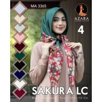 Jilbab / Hijab / Kerudung Segi Empat terbaru motif sakura by azara