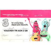 Voucher Tri Aon 2 GB / V AON 2 GB / Voucher Three 2 GB
