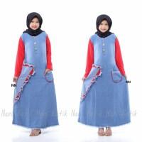 Gamis Anak Gamis ABG Tanggung Baju Muslim Anak Perempuan Gamis Jeans
