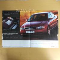 Poster Iklan mobil AUDI A4 V6 majalah lawas lama koleksi pajangan deko