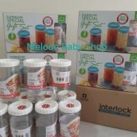 Lock & Lock Interlock Special Gift Set (Toples Lebaran isi 3pcs @1L)