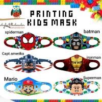 Masker anak scuba karakter personalized name / Masker anak tempel nama