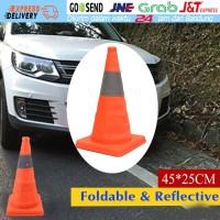 5CM Adjustable Kerucut Pembatas Jalan Lipat Karet Lalu Lintas Foldable