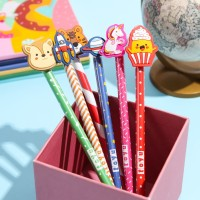 Pensil Pencil Kayu Alat Tulis Stationery Lucu Topper Kartun Karakter - Merah Harimau