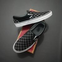 Vans Slip on Checkerboard Black Pewter Original BNIB