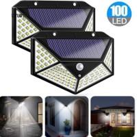 lampu taman tenaga surya - solar interaction wall lamp 120 led