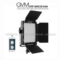 Studio Lighting GVM 560AS Bi-Color LED Panel With App Remote Control