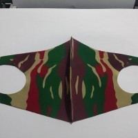 Masker Korea Bahan Kain Scuba Loreng Darah Mengalir Kopassus TNI AD
