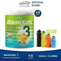 Blemil Kids 3 Susu Anak (1-3 thn) 3x800gr - Free Botol Minum Foldable