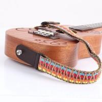 ☆FY☆Colorful Braided Guitar Electric Bass Ukulele Strap Belt