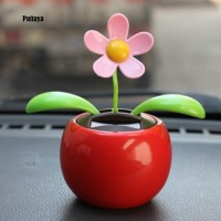 P Solar Powered Dancing Swinging Animated Flower Toy Car Styling