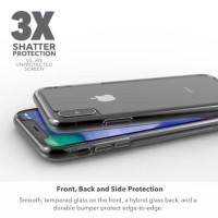 New Zagg InvisibleShield iPhone XS X 5.8 Glass 360 Protection Ult
