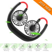 Hand Free Portable Fan Small Personal Mini USB Charge Neck Fan 3
