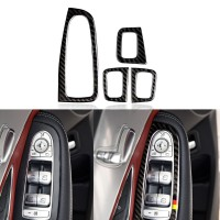4Pcs Stiker Panel Armrest Mobil untuk Mercedes w205