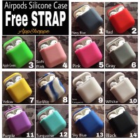 Apple Airpods Silicone Case Protective Cover Pouch sparepart